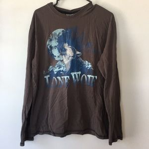 🐺 Urban Vintage Lone Wolf Long Sleeve Shirt L